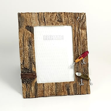 Bey-Berk Resin Fishing  Picture Frame With Easel Back, 4in. x 6in.