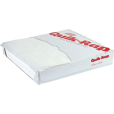 Dixie Quik-Rap® 891258 Grease-Resistant Sandwich Paper, White, 12in.(W) x 12in.(L)