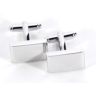 Bey-Berk J166 Rhodium Plated Cufflinks, Rectangular
