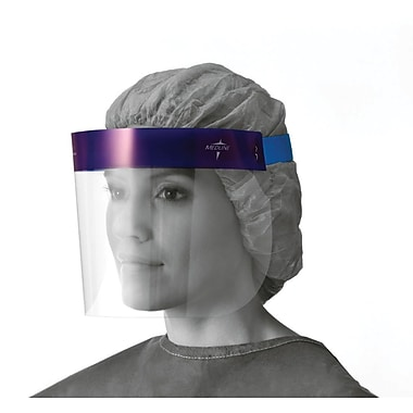 Medline NONFS400 Disposable Face Shields, Clear
