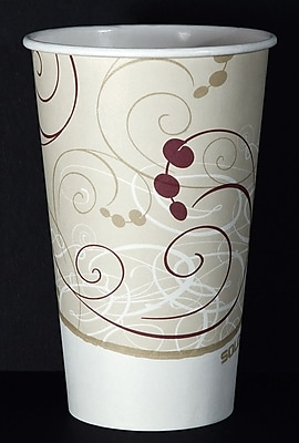 SOLO 316SMSYM Hot Cup, Symphony Design, 16 oz. Beige, 1000/Carton 150284