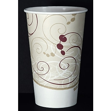 SOLO® 316SMSYM Hot Cup, Symphony Design, 16 oz. Beige, 1000/Carton