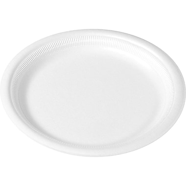 SOLO® Center Piece® RSF10-0007 Laminated Plate, 10 1/4in.(Dia), White, 500/Case
