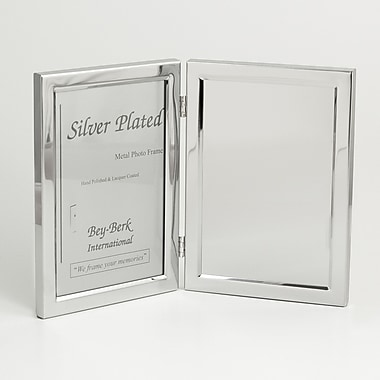 Bey-Berk Silver Plated Picture Frame/Engraving Plate, 5