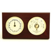 Bey-Berk Brass and  Mahogany Wood Tide Clock/Barometer/Thermometer