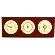 Bey-Berk Brass and  Mahogany Wood Time/Tide Clock/Barometer/Thermometer