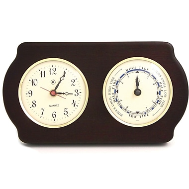 Bey-Berk Brass/Ash Wood  Tide and Time Clock