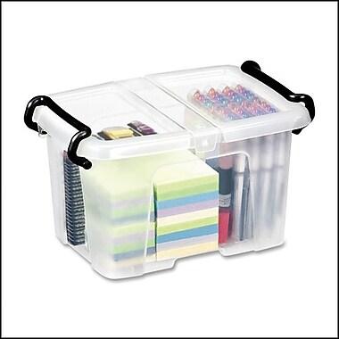 Greenside Group – Boîte de rangement Smart Box pour fournitures de bureau, transparente, petite