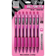 Zebra® Z-Grip BCA Retractable Ballpoint Pens, Pink, 7/Pack