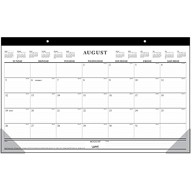 2014/2015 Staples® Academic Compact Desk Pad,  17 3/4in. x 10 7/8in.