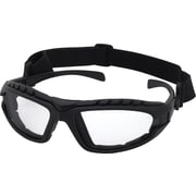 Dentec Hornet Foam-Lined Black Frame Safety Glass, Clear Lens