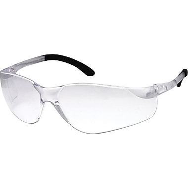 Dentec Sentinel Safety Glasses with Rubberized Temple Tips, Clear Lens