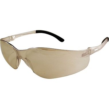 Dentec Sentinel Safety Glasses with Rubberized Temple Tips, Indoor/Outdoor Mirrored Lens