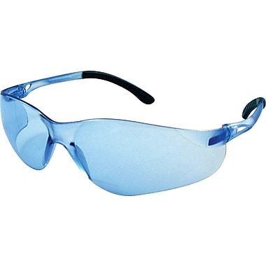 Dentec Sentinel Safety Glasses with Rubberized Temple Tips, Blue Lens