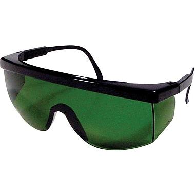 Dentec Blaze Black Frame Safety Glasses with Adjustable Temples, IR 3.0 Lens