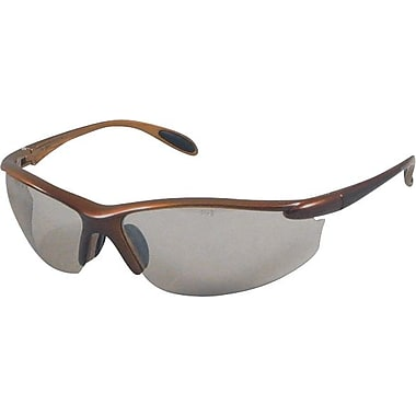 Dentec Catalina Safety Glasses, Brown Metallic Frame with Paddle Temples, Brown Lens