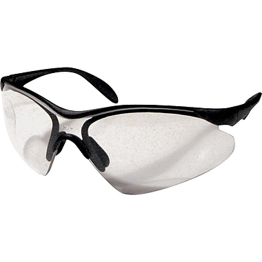 Dentec Citation 937 Safety Glasses Series Eyewear Black Frame with Paddle Temples, Clear Lens