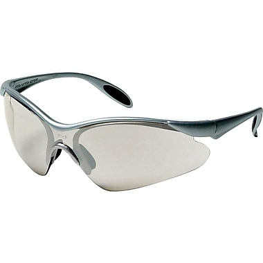 Dentec Citation 937 Safety Glasses Eyewear with Paddle Temples, Silver Frame & Indoor/Outdoor Lens