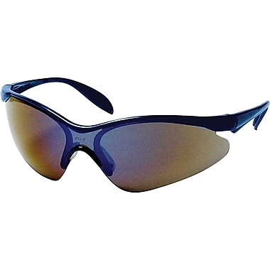Dentec Citation 937 Safety Glasses Eyewear with Paddle Temples,Blue & Indoor/Outdoor Mirrored Lens