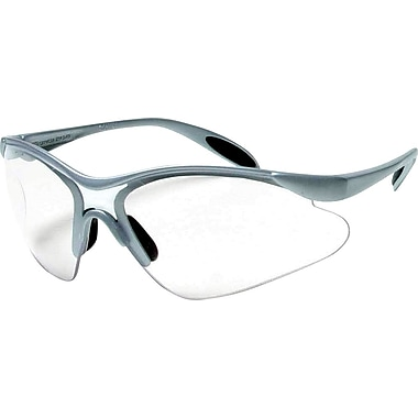 Dentec Citation 937 Safety Glasses Series Eyewear with Paddle Temples, Silver Frame & Clear Lens
