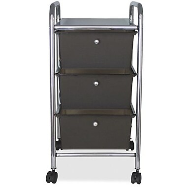 Advantus 3-Drawer Organizer, Smoke