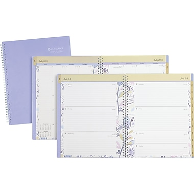 2013/2014 AT-A-GLANCE® Academic Periwinkle Weekly/Monthly Large Appointment Book, 8 1/2in. x 11in.