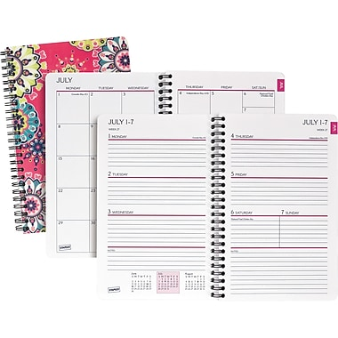 2013/2014 Staples® Academic Weekly/Monthly Kaleidoscope Planner, 5 1/2in. x 8 1/2in.