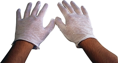 Ambitex Inspector Gloves 100% Cotton One Size Fits White 12 Bag