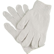 Ambitex Work Gloves Cotton Polyester Blend, Small, White, 12/Bag