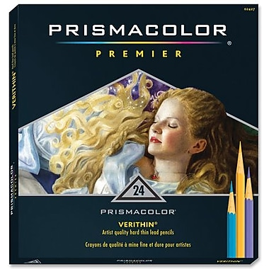 Prismacolor Verithin Coloured Pencils, 24 Assorted Colours