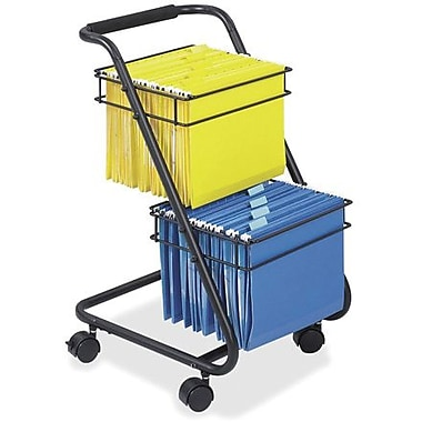 Safco Jazz 2-Tier Mobile Hanging File Cart, Black