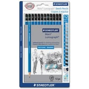 Staedtler® Mars Lumograph Drawing/Writing Pencils, 12/Pack