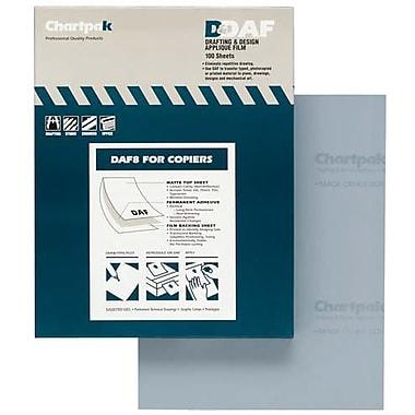 Chartpak® – Film à dessin appliqué, 8 1/2 po x 11 po, 100 feuilles/bloc