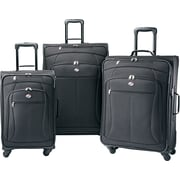 American Tourister POP 3 Piece Spinner Softside Luggage Set, Black