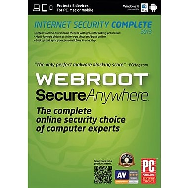 Webroot SecureAnywhere Internet Security Complete 2013 for Windows (1-5 User) [Boxed]