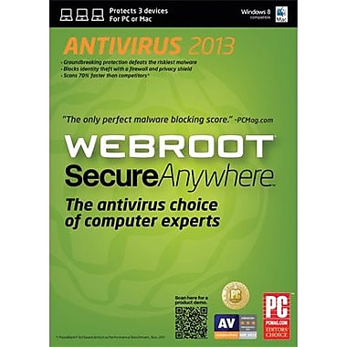 Webroot SecureAnywhere Antivirus 2013 for Windows (1-3 User) [Boxed]