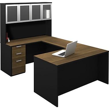 Bestar Pro-Concept Corner Computer Desk, Brown (110855-98)