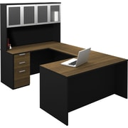 Bestar 110855-98 Corner Desk, Brown