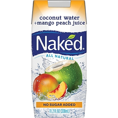 Naked Coconut Water & Mango/Peach Juice, 11.2 oz., 12/Pack