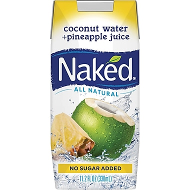 Naked Coconut Water & Pineapple Juice, 11.2 oz., 12/Pack
