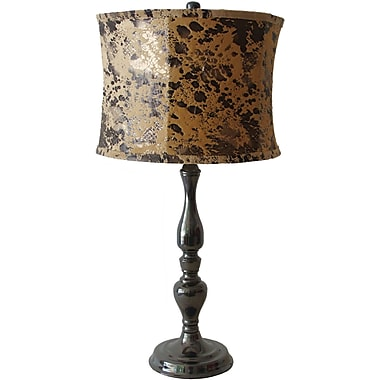 Fangio Black Nickel Metal Table Lamp