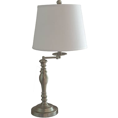 Fangio Brushed Steel Metal Table Lamp