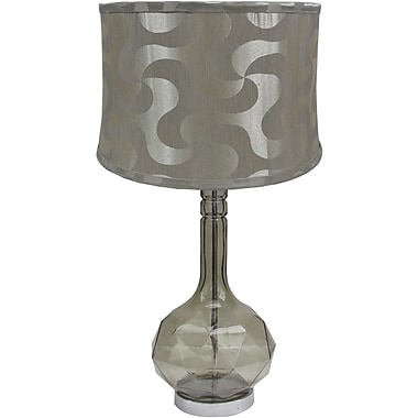 Fangio Smoke Glass Table Lamp