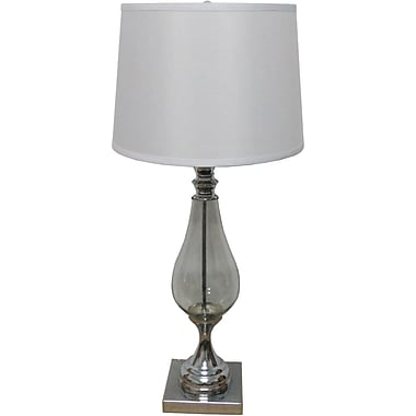 Fangio Polished Nickel Glass & Metal Table Lamp