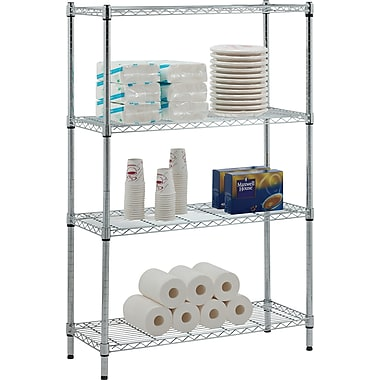Whalen 54in. Complete Wire Shelving Unit, Chrome