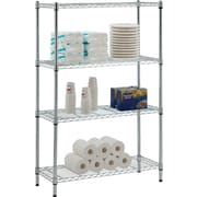 Whalen® 54 Complete Wire Shelving Unit, Chrome