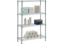 Whalen® 54' Complete Wire Shelving Unit, Chrome