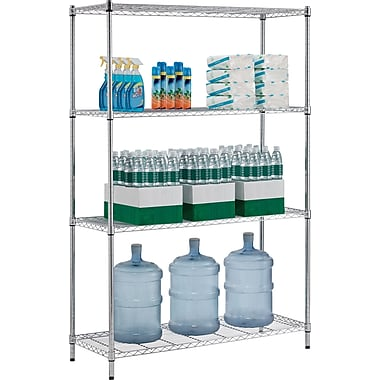 Whalen 72in. Complete Wire Shelving Unit, Chrome