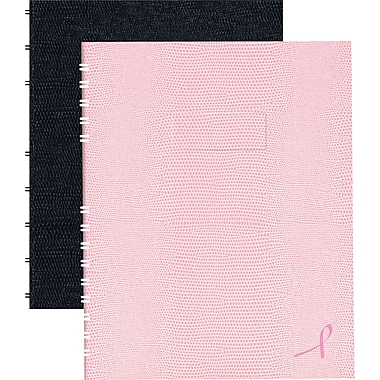 Blueline® - Cahiers de notes à couverture rigide Notepro, 9 1/4 po x 7 1/4 po, collection au ruban rose, 150 pages