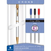 Cross Helios Ballpoint Pen with Gold/Chrome Barrel & Refill Gift Set, Each